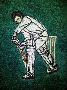 CRICKETER PERSONALISED FACE CLOTH